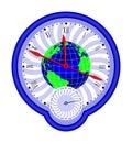 World globe and clock1 Royalty Free Stock Photo