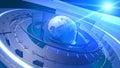 Zeměkoule digitální síť spojení