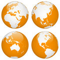World globe earth Stock Image