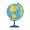 World globe icon school education. Geography earth