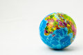 World globe the made of rubber on a white background Royalty Free Stock Image