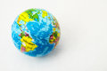 World globe the made of rubber on a white background Royalty Free Stock Photo