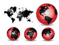 World Globe Maps Stock Images