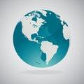 World Globe Maps - Vector Design Royalty Free Stock Photo