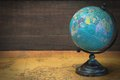 World Globe On The Old Map Royalty Free Stock Photo