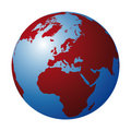 World globe (vector) Stock Photos