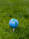 World golf concept on tee Royalty Free Stock Photography