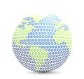 World golf map ball isolated over white Stock Image