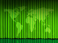 World Green curtain on theater stage Stock Photo