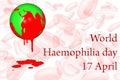 World Haemophilia day 17 April. Royalty Free Stock Photo