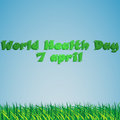 World Health Day on 7 April. Grass against the sky Royalty Free Stock Photo