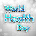 World health day background Royalty Free Stock Photos
