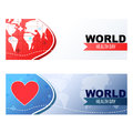 World health day banners Royalty Free Stock Photo