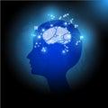 World Health Day Globe Human Head Brain Vector Illustration Royalty Free Stock Photo