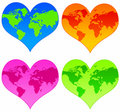 World hearts Royalty Free Stock Photos
