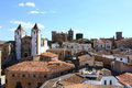 World heritage caceres at spain medieval city of Stock Image
