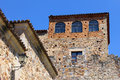 World heritage caceres at spain medieval city of Royalty Free Stock Image