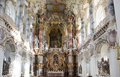 World heritage church wies wieskirch interior of in bavaria near fuessen Stock Photography