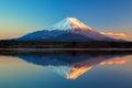 World Heritage Mount Fuji and Lake Shoji Royalty Free Stock Photo