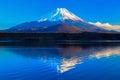 World Heritage Mount Fuji and Lake Shoji II Royalty Free Stock Photo