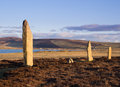 World heritage site standing stones ring of brodgar orkney scotland a neolithic stone circle and henge which is part of the heart Royalty Free Stock Image