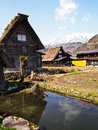 The world heritage village shirakawa go gifu japan view of Royalty Free Stock Images
