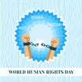 World human rights day concept background, flat style