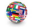 World International Business Globe Royalty Free Stock Photo