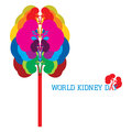 World kidney day an illustration on Stock Photos