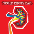 World kidney day an illustration on Royalty Free Stock Photos