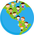 World kids Stock Image