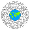 World labyrinth Royalty Free Stock Photo