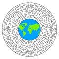 World labyrinth Royalty Free Stock Photo
