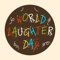 World laughter day colorful text for vector illustration Royalty Free Stock Images