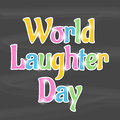 World laughter day illustration of stylish shiny text for Stock Image