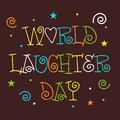 World laughter day illustration of stylish text for Stock Photos