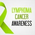 World lymphoma cancer day awareness poster eps10