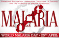 World Malaria Day Design Promoting Prevention Methods for this Disease, Vector Illustration Royalty Free Stock Photo