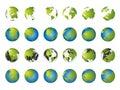World map, 3D globe series Royalty Free Stock Photo