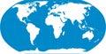 World map blue Royalty Free Stock Photo