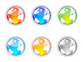 World map buttons Royalty Free Stock Photos