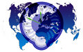 World map and clock2 Royalty Free Stock Photo