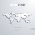 World map d vector illlustraion useful for infog elegant infographics Royalty Free Stock Images