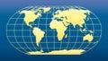 World Map dark blue background Royalty Free Stock Photo