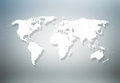 World map detailed on gray background Stock Photography