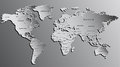 World Map Engraved on Grey. Highly Detailed Royalty Free Stock Photo