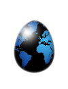 World map flag egg isolated over white Royalty Free Stock Photo