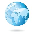 World Map and Globe Detail Vector Illustration Royalty Free Stock Photos