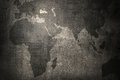 World map on grunge wall background Royalty Free Stock Photo