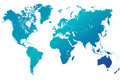 world map highly detailed blue vector Royalty Free Stock Photo